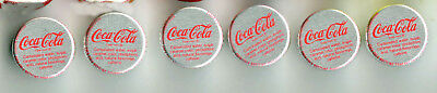 6-LOT COCA COLA BOTTLES CAPS - TWTST OFF TWIST ON Type from CAIRO, ILLINOIS