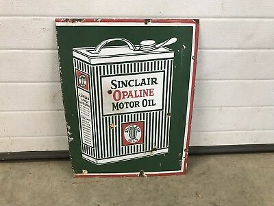 Sinclair Opaline Motor Oil Porcelain Sign Chevrolet, Ford
