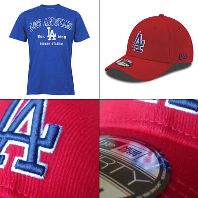 LA Dodgers Officially Licenced MLB Est. 1958 T Shirt Small + FREE 39THIRTY Cap