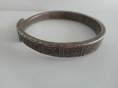 Old Coin Silver Hilltribe / Tribal Bangle Laos SE Asia