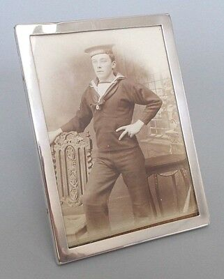 Antique solid silver 6'' x 4.5'' photo frame, William H. Haseler, B'ham 1917