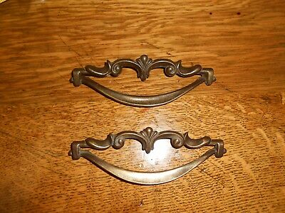 "2 - Vintage Chic French Provincial Drawer Pull Antique Hardware 5"" wide 2"
