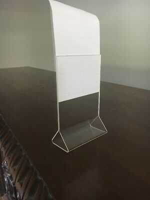 """Acrylic Table Card Menu Holder Stand 4"""" x 6"""" Events Party Restaurant Bar"""