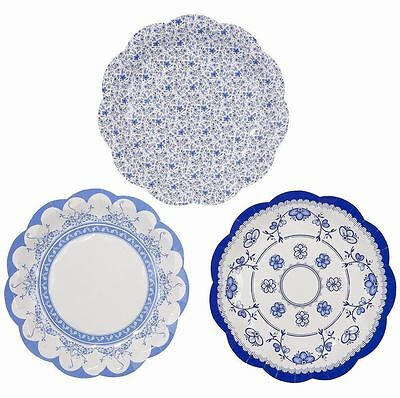 12 LUXURY VINTAGE Style Afternoon Tea Party paper Plates Shabby Chic ...