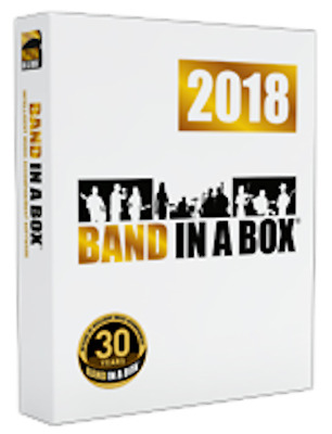 New eMedia Band in a Box 2018 PRO, Auto Accompaniment Software for PC eDelivery