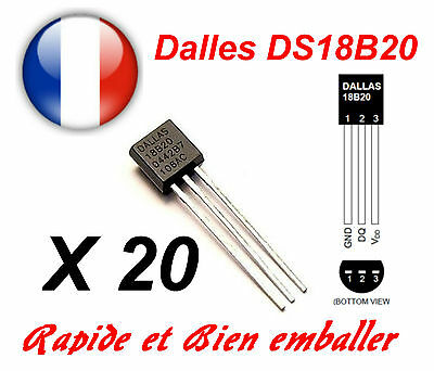 20 pieces Dallas DS18B20 1-Wire Digital Thermometer TO-92