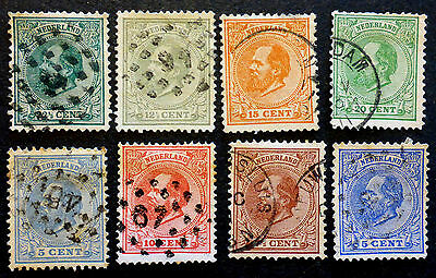 Netherlands   #23-29 Used  1872-88 (Key Value #29 Cat.$42.50) Total Cat.$77