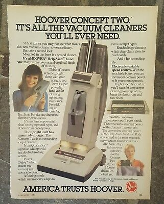 1983 print ad-Hoover Concept Two Vacuum Cleaner-America Trusts Hoover