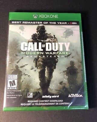 Call of Duty 4 Modern Warfare Remastered [ 2017 ] (XBOX ONE) NEW