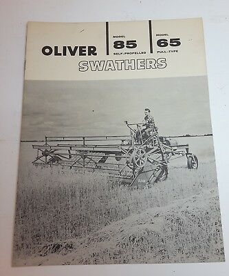 Vintage Oliver Corporation 85 / 65  Swather Advertising Brochure - late 1950's