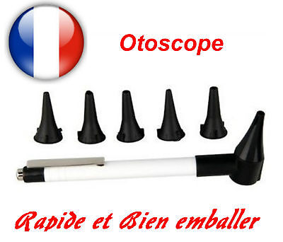 OTOSCOPE  forme Stylo + 5 Embouts