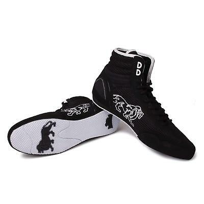 New Lonsdale Contender Low Senior Mens Boxing Boots Black White Shoes rrp £60