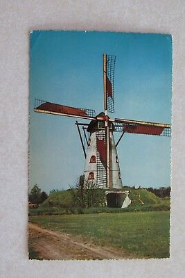 b477 Postcard Holland Dutch Windmill Netherlands