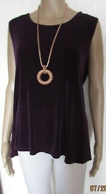 Nwt Size 14/16 Purple Slinky Tunic Style Top