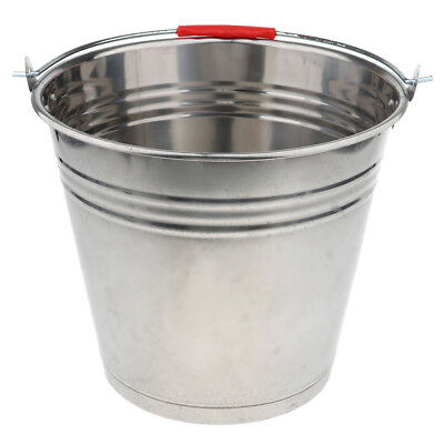 Thicken Food Grade Stainless Steel Water Ice Bucket Pail 12L/16L/20L