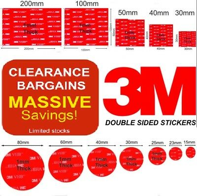 Double Sided Stickers 3M Command Adhesive Dash Cams/Wall Mounts/ Iphone/Tablets