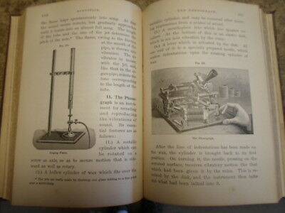 Pre Class M Edison Electric Phonograph in 1888 Physics Textbook Steam Telephone