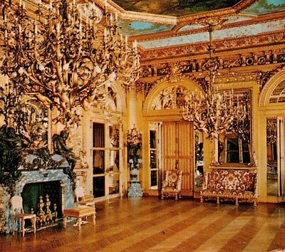 Ball Room Marble House Vanderbilt mansion Newport Rhode Island Vintage Postcard