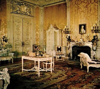 Mrs. Vanderbilt's bedroom Marble House mansion Newport RI Vintage Postcard