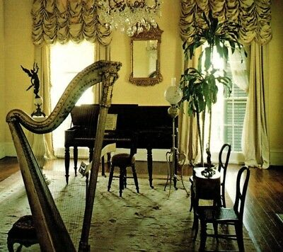 Music Room at Nottoway Plantation House White Castle Louisiana Vintage Postcard