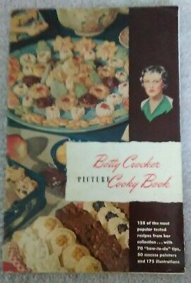 Betty Crocker Cooky Book Picture Cookbook Vintage 1948 General Mills