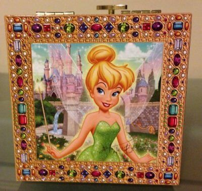 Tinkerbell Green Jewellery Jewelry Box Only Available in Disney Theme Parks Rare