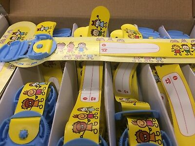50 Reusable Identity Wristbands Kids Design For Clubs,Trips,Events, Nurseries