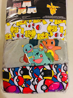 Pokemon Boys 5 Pack Assorted Boxer Briefs Size 8