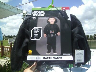 New In Pkg. Disney Star Wars Darth Vader 3 Pc Costume Set Toddler Size 2T  sc 1 st  PicClick & NEW IN PKG. Disney Star Wars Darth Vader 3 Pc Costume Set Toddler ...