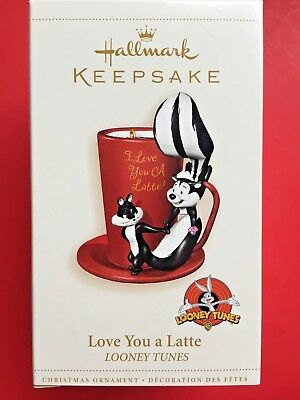 Hallmark 2006 Looney Tunes Pepe Le Pew And Penelope Love You A Latte
