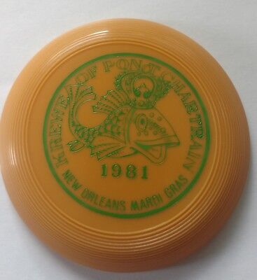 1981 Original Small Mardi Gras Frisbee New Orleans