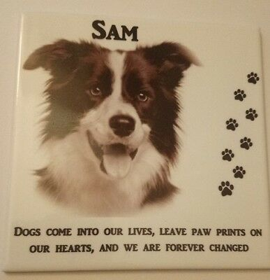 Personalised Custom Pet Dog Photo Memorial Tile Memorial Plaque - Poem,Picture