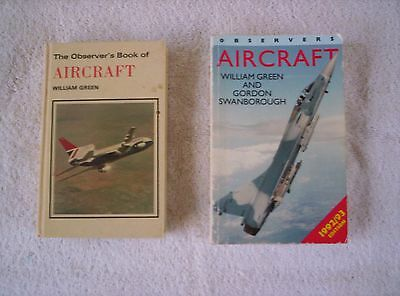 2 x  The Observer's Book Of Aircraft by Green William -  1980 + 1992/93