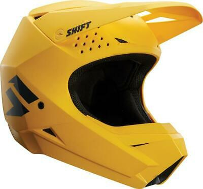 NEW SHIFT WHIT3 Label Matte Yellow Helmet from Moto Heaven