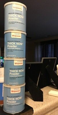 (4)Regular Thick Now Powder Instant Food Thickener Low Sodium 8oz  for dysphagia