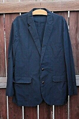 Men's J. Crew Navy Blue Blazer Sportcoat Jacket Size: M 2 Button-Up Slim