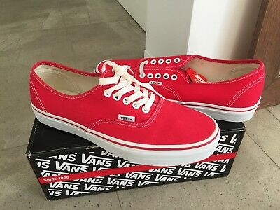 Vans Authentic Red 9 Era White Old Skool Slip On Sk8 Hi