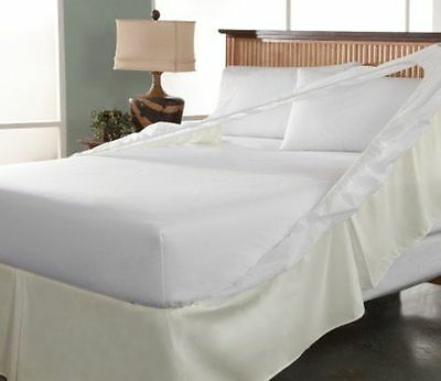 Perfect Fit Luxury Trouble Free Bedskirt Microfiber Full Size Ivory