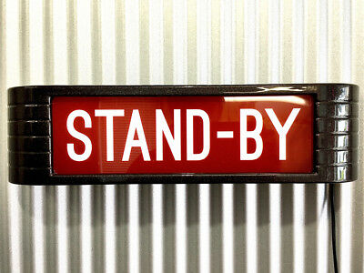 STAND-BY rca Style Broadcast Light Up Flashing Studio Sign Metallic Charcoal
