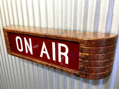ONAIR rca Style Broadcast Light Up Flashing Studio Sign Old Copper