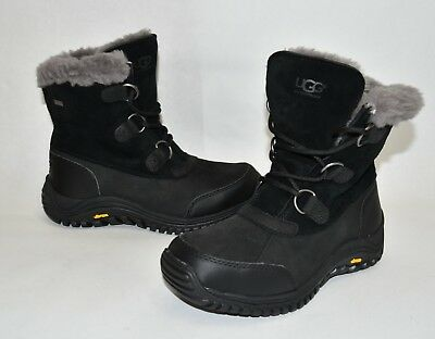 08b7cb2aedf NEW! UGG OSTRANDER Waterproof UGGpure Winter Boot Black Leather Size 7  1008125