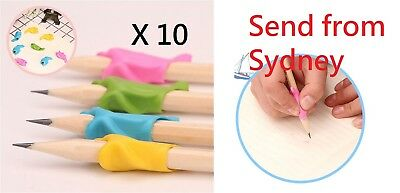 10 x Posture Correction Tool Kids Children Pencil Holder Writing Hold Pen Grip