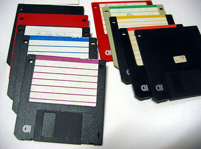 10x assorted high density floppy disks used 1.44MB