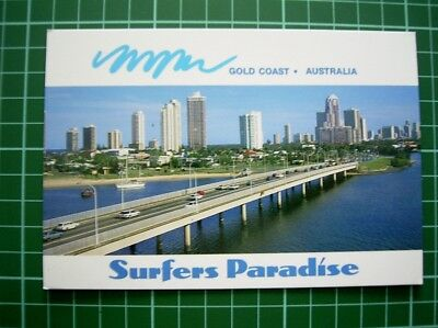 POSTCARD - NERANG RIVER SURFERS PARADISE GOLD COAST QLD - Mailed in 1993 - Used
