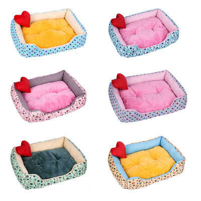 Deluxe Soft Dog Bed Pet Warm Basket Fleece Lining Cushion Puppy Cat Washable