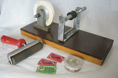 Retro Vintage Film Dark Room Items guessed to be film splicer and roller, blades