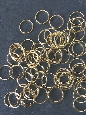 Jump Rings 10 mm Gold Plated Findings 100 pack Jewellery Crafts Aussie Seller