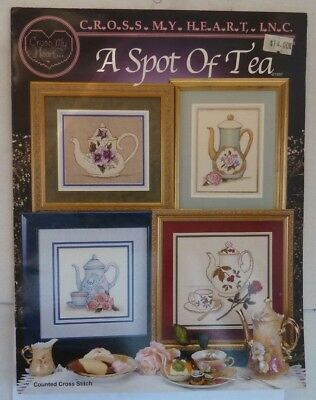 A SPOT of TEA COUNTED CROSS STITCH PATTERN BOOK by CROSS MY HEART USA