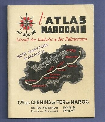 Vintage Travel MOROCCO ATLAS CASBAH & PALM GROVE RAILROAD CIRCUIT Hotel Mamounia