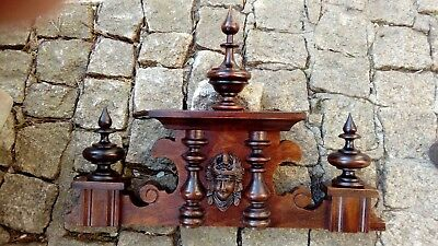 CROWN WOODEN TO THE CLOCK GERMAN VIENNA LENZKIRCH REGULATOR BECKER nr.55